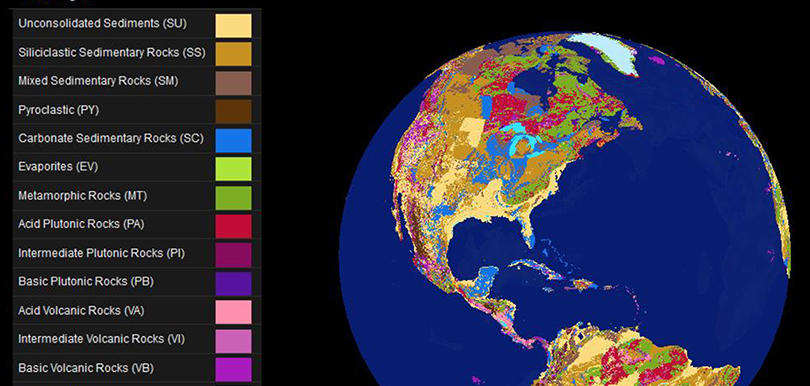 Interactive Now The Global Lithological Map News Universität - Interactive globe map